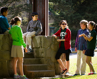 Photo of students outside. Link to Gifts by Will and Living Trusts